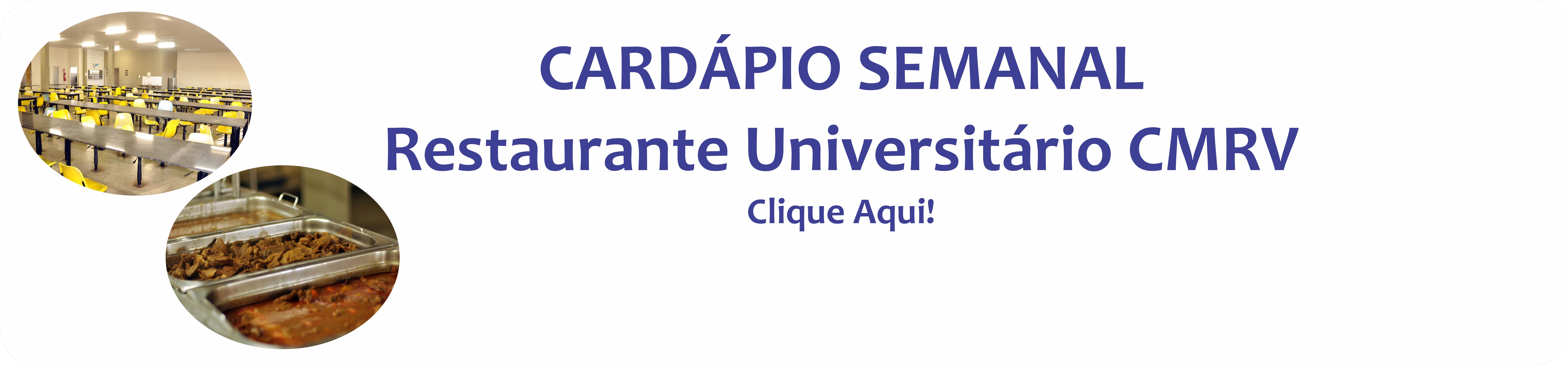 Cardápio RU CMRV