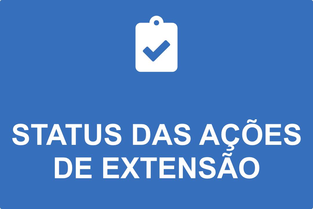 Status das Ações de Extensão