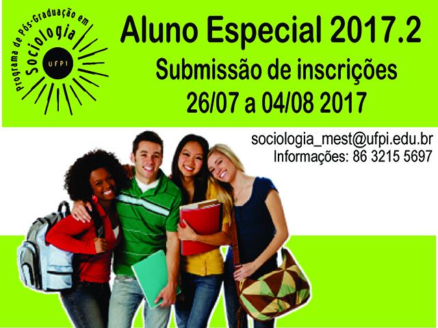 ALUNO ESPECIAL 2017.2