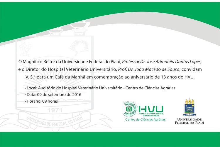 Convite Aniversario 13 anos do HVU