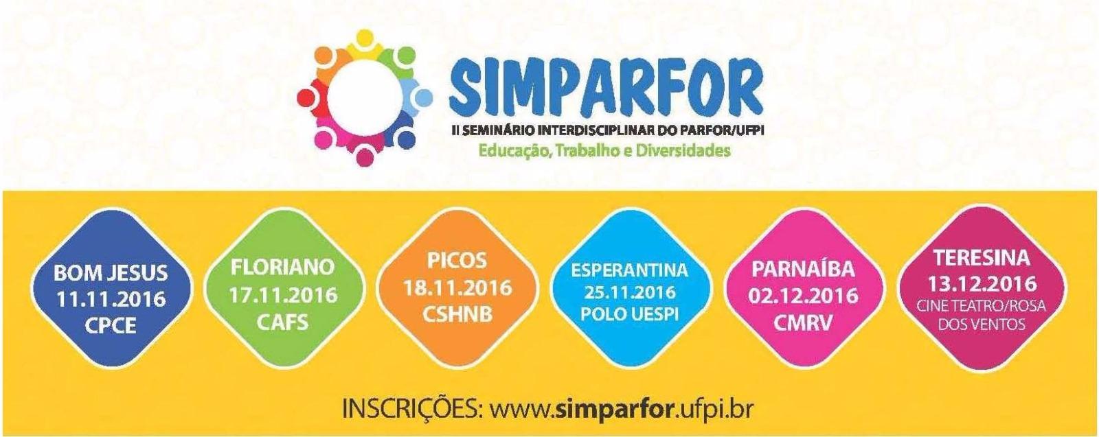 PARFOR/UFPI CONVIDA PARA O II SEMINÁRIO INTERDISCIPLINAR
